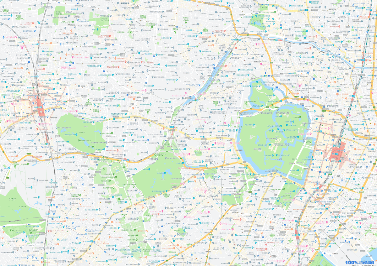 Googleマップで精細な広範囲の地図をa4サイズで印刷する方法